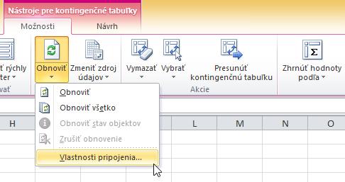 Pripojiť Excel