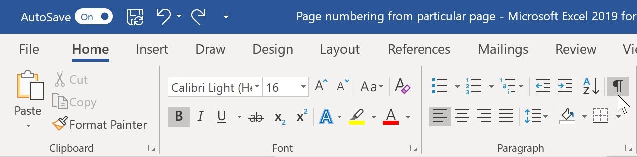 page numbering from specific page in microsoft word 02
